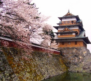 17春の季語・植物・桜(桜と城).jpg